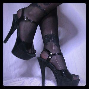 basic pleasers stripper heels